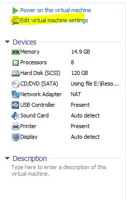 VMware Settings