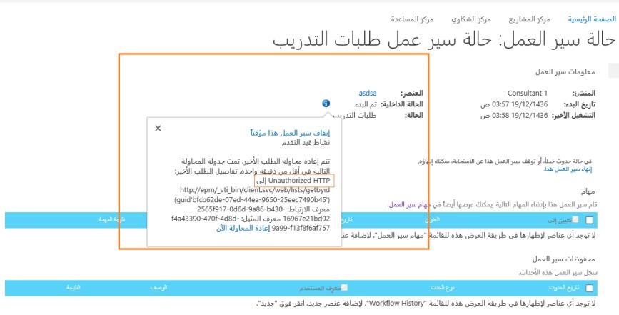 workflow unauthorized http