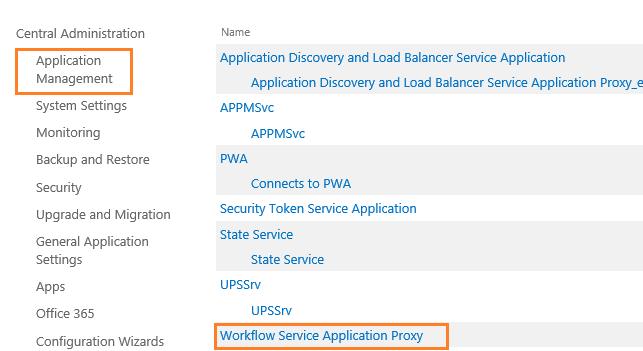 workflow service application proxy