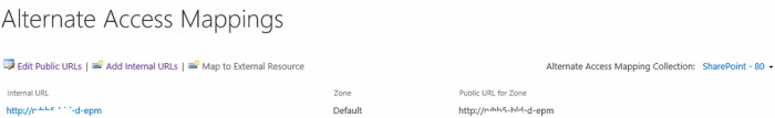 Edit Public URL in Alternate Access Mapping In SharePoint