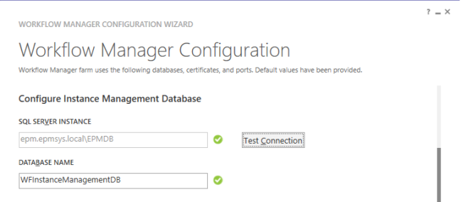 Configure Instance Management Database -  Configure Workflow Manager for SharePoint 2013
