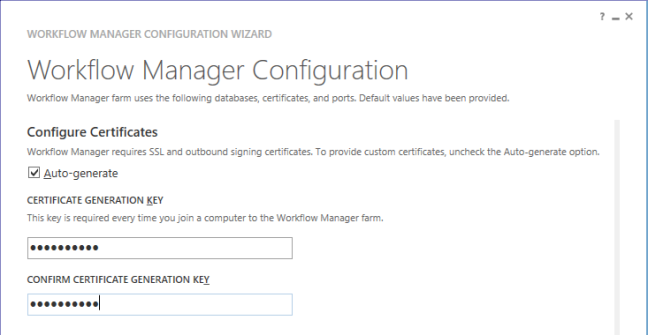 Configure WF Certificate -  Configure Workflow Manager for SharePoint 2013