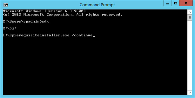 prerequisiteInstaller.exe The system cannot find the drive specified.