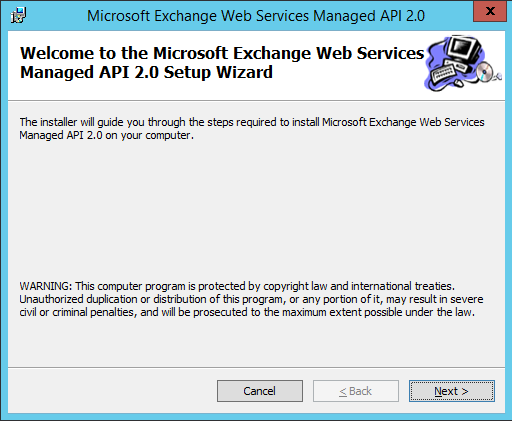 Install Microsoft Exhanage Webservices 1
