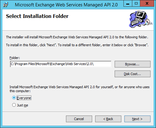 Install Microsoft Exhanage Webservices 3