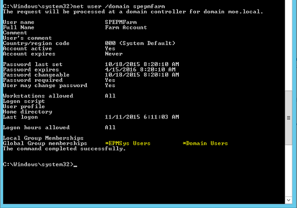 get the Active Directory groupsin which a user is a member via PowerShell