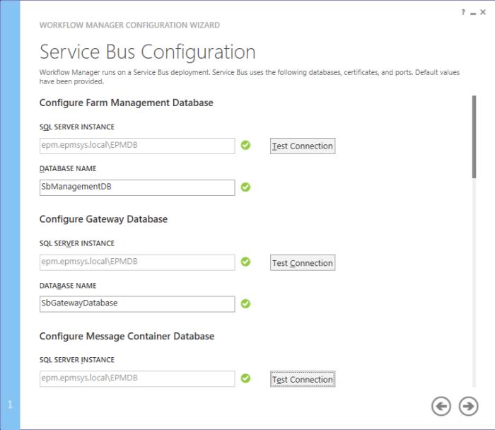 Service bus config