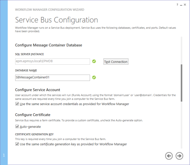 Service bus configuration - Configure Workflow Manager for SharePoint 2013