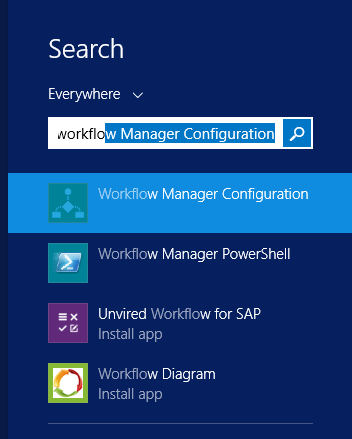 WF manager Configuration