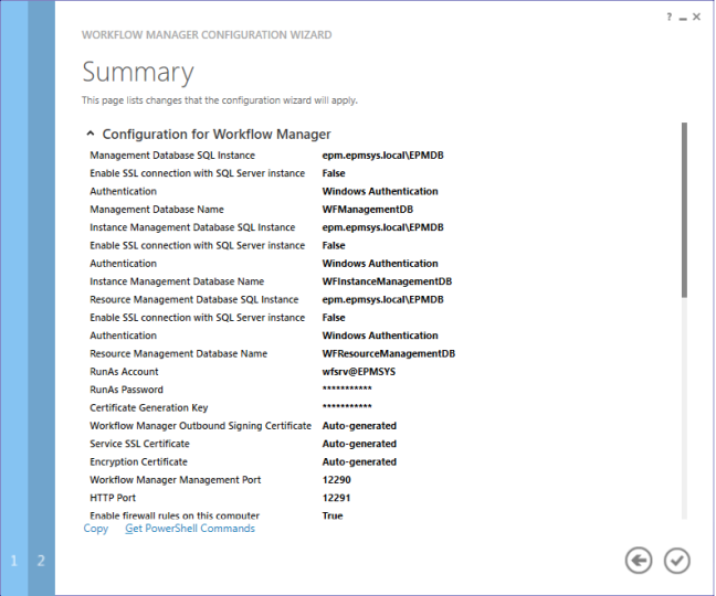 WF summery - Configure Workflow Manager for SharePoint 2013