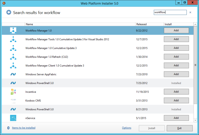 Workflow manager install