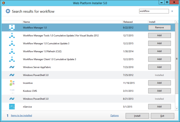 Workflow manager install1