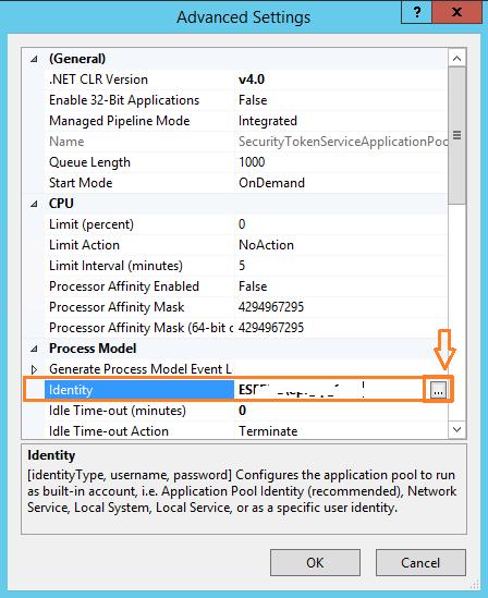 SharePoint App pool Service Account Identity