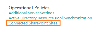 Connected SharePoint Site