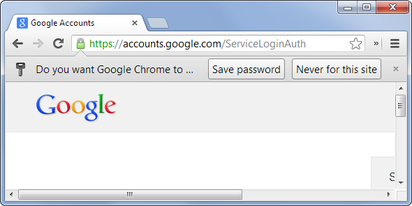 See saved password in browser