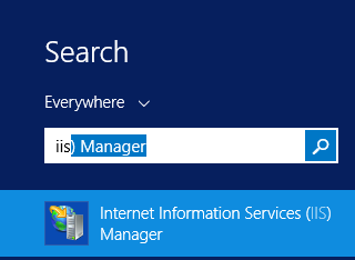 Open IIS Manager
