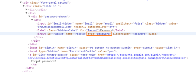Change Password Type to Text