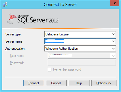 Connect to SSMS