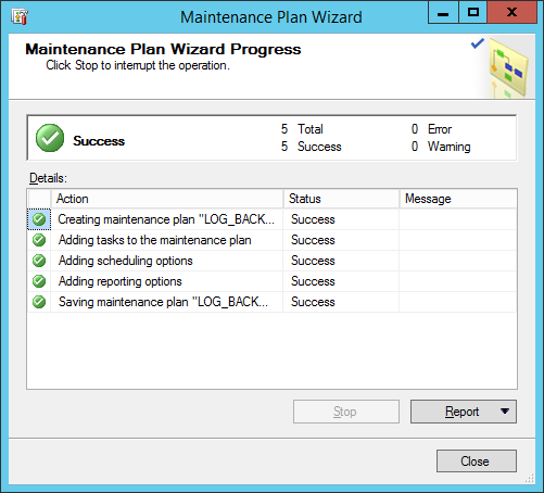 maintinance plan wizard 10