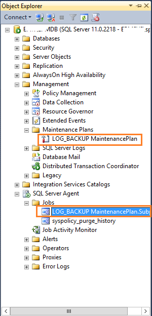 SharePoint Config database Log back up