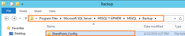 Run SharePoint Config database Log back up Path