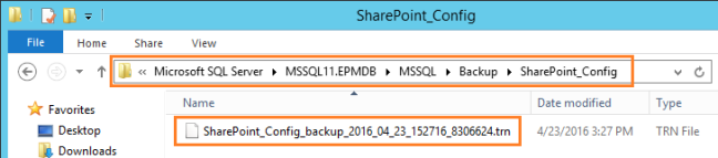 Run SharePoint Config database Log back up files