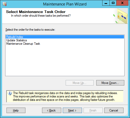 maintinance plan wizard 25