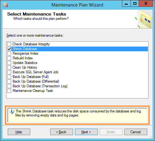 maintinance plan wizard 29