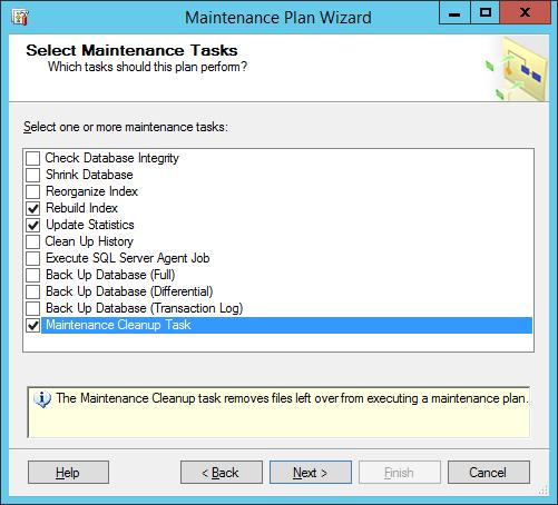 maintinance plan wizard 3