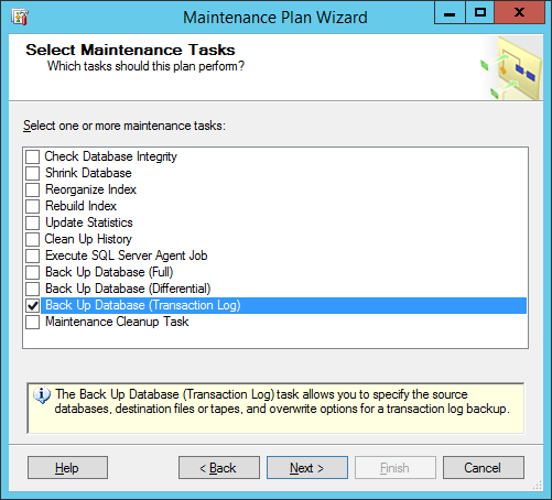 maintinance plan wizard 4