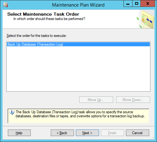 maintinance plan wizard 5