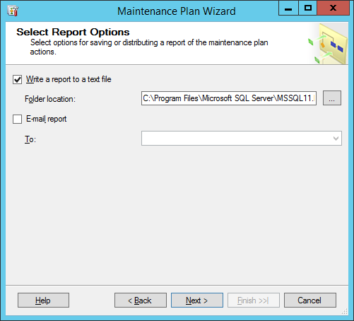 maintinance plan wizard 8