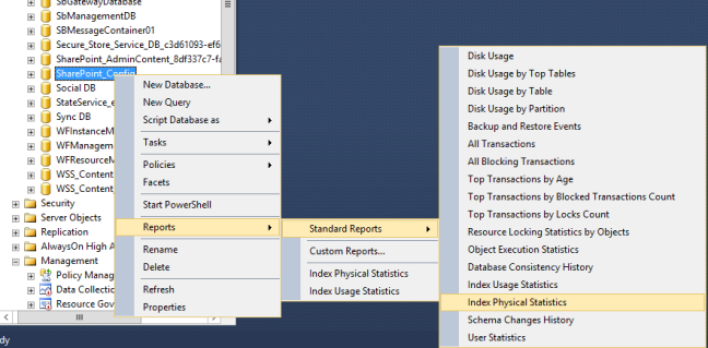 Index Physical Statistic Report in SQL Server