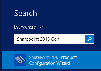 Open SharePoint 2013 Configuration Wizard
