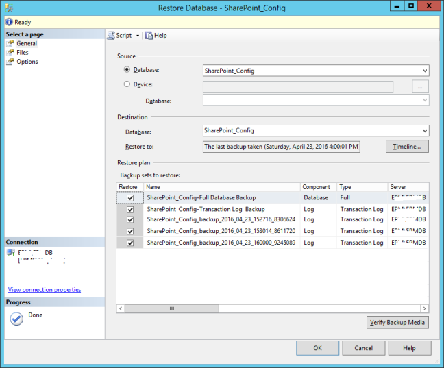 Restore Multiple transaction log backups in SQL Server