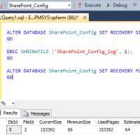 The transaction log for database 'SharePoint_Config' is full due to LOG_BACKUP