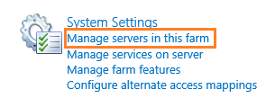 System Settings in SharePoint