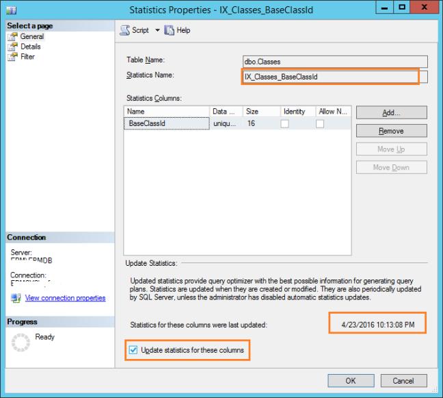Update Statistics In SQL Server