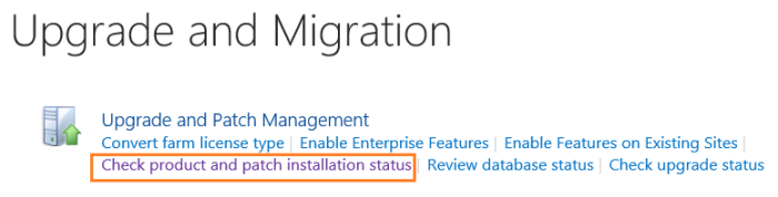 Upgrade and migration