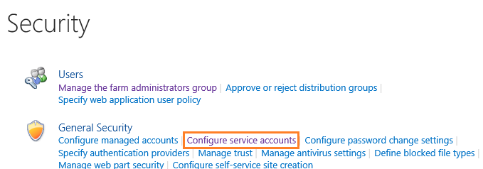 Configure Service Account