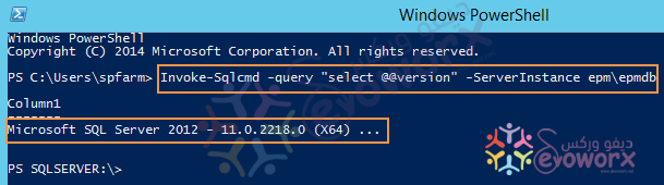 SQL Server Versions by windows PowerShell