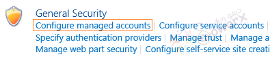 configure managed account - Security - Central Administration