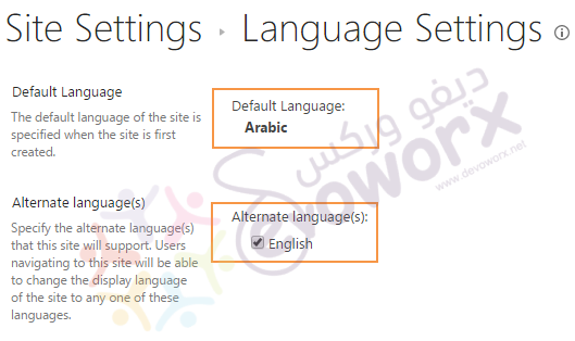 Language Settings - SharePoint2013