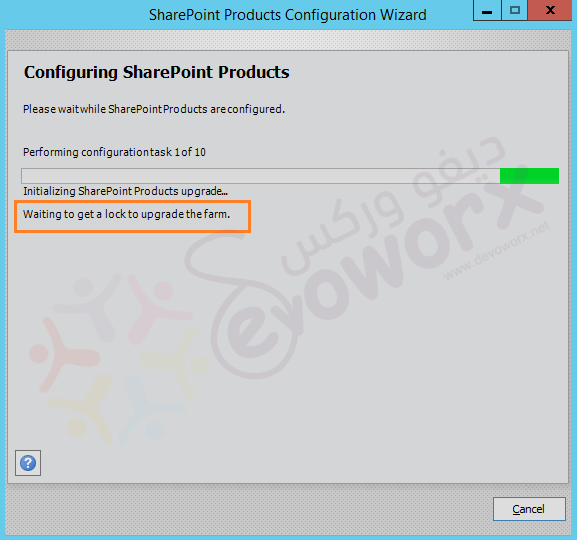 SharePoint Products Configuration Wizard - Step 1