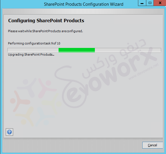 SharePoint Products Configuration Wizard - Step 9