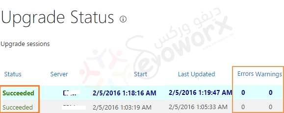 SharePoint Upgrade Status
