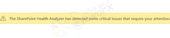 The SharePoint Health Analyzer has detected some critical issues that require your attention