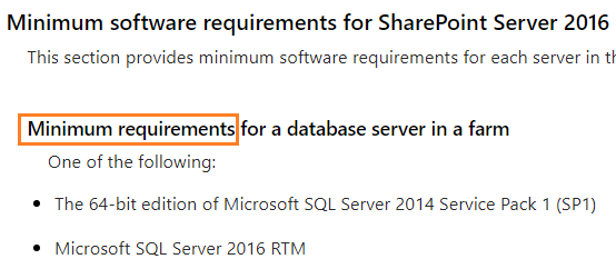 SQL Server Compatibility for SharePoint 2016