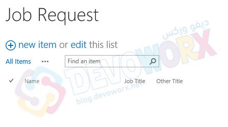 Add new list item