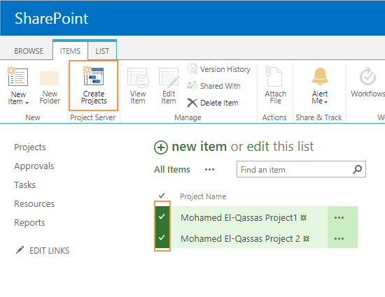 Create a new project based on SharePoint List item in Project Server